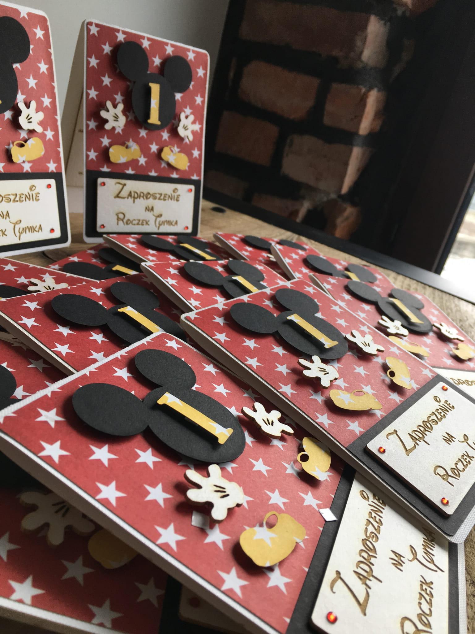 Zaproszenia Urodzinowe Z Myszką Mickey Kreatywna Pracownia Tadam